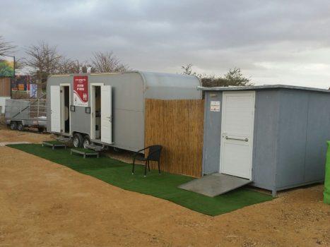 קרוואן שירותים 2 תאים וקראוון שירותים מותאמים לנכים