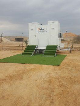 קרוואן שירותים נייד שני תאים